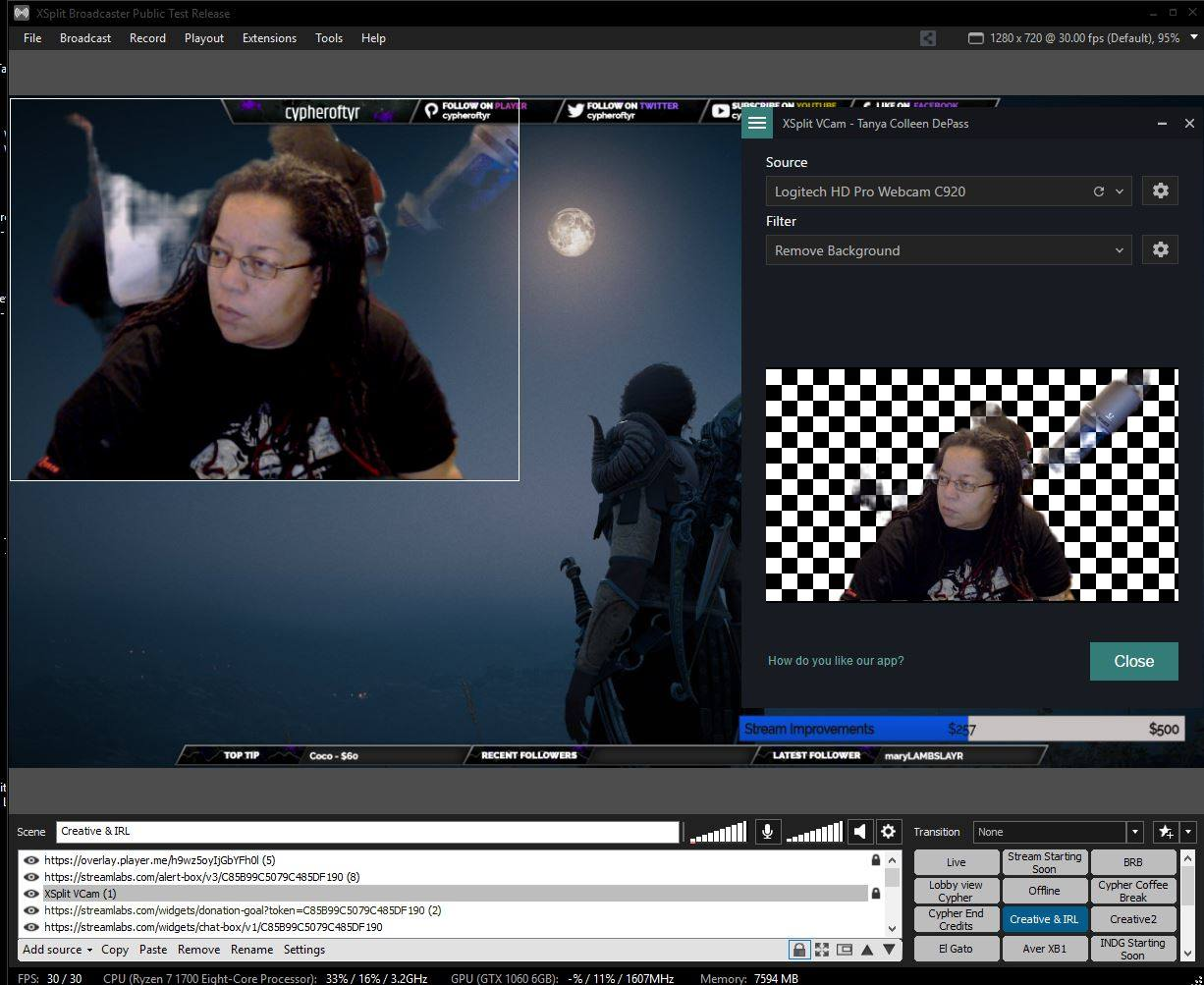 A quick review of @XSplit's VCam app – The random musings of